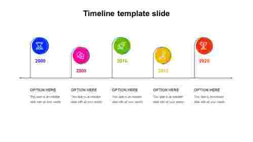 5 Option timeline template slides