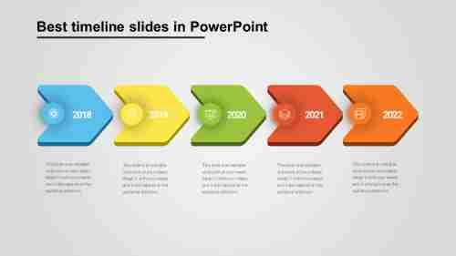 Best chevron model timeline slides in PowerPoint
