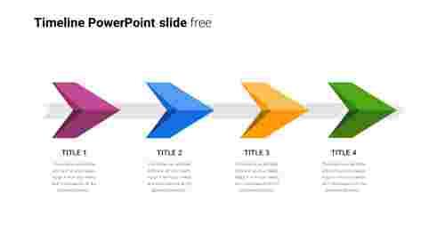 Free arrow timeline PowerPoint slide