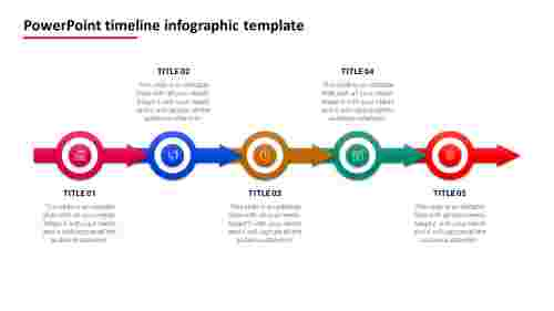 5 Stages PowerPoint timeline infographic template