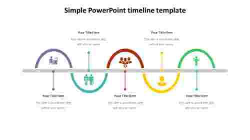 Simple PowerPoint timeline template - Process Diagram