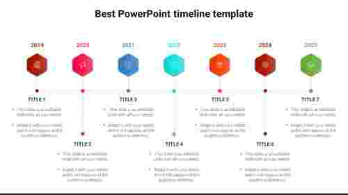 Best PowerPoint timeline template - 7 Stages