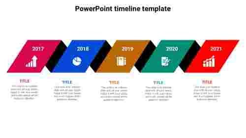 5 Stages PowerPoint timeline template download