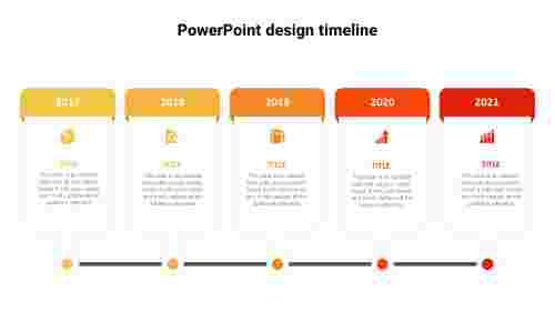 Horizontal PowerPoint design timeline