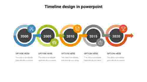 Arrow timeline design in PowerPoint