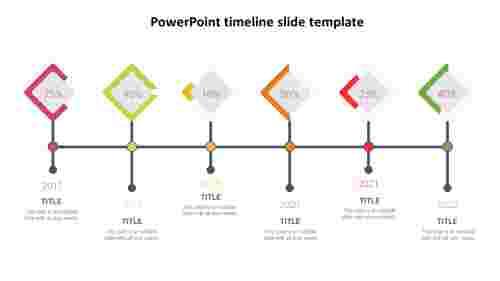 Diamond model PowerPoint timeline slide template
