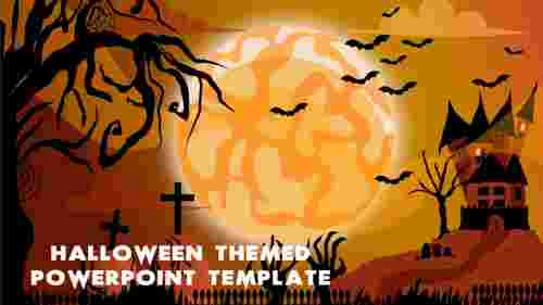 Amazing Halloween themed PowerPoint template