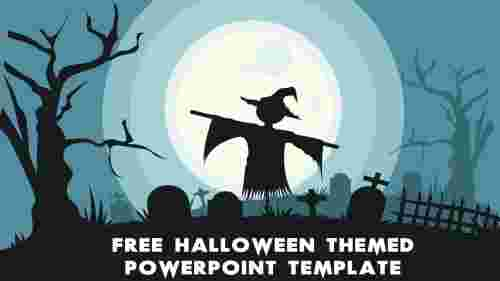 Simple Free Halloween Themed PowerPoint Template