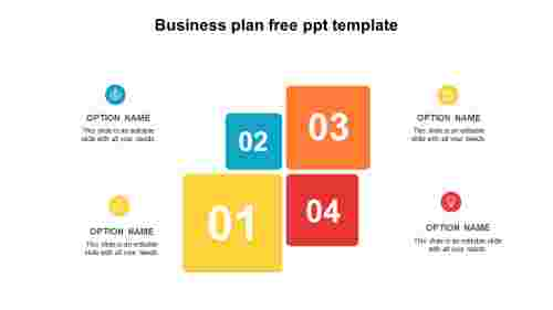 Four business plan free PPT template