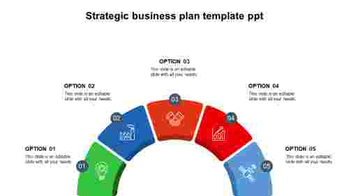 Strategic business plan template PPT - Semi circle Model