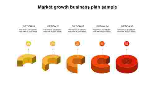 Market growth business plan sample - 3D Diagram