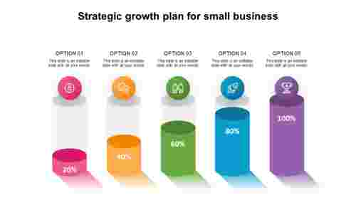 Strategic growth plan for small business - PowerPoint Templates