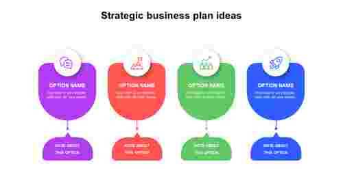 Four strategic business plan ideas PowerPoint templates