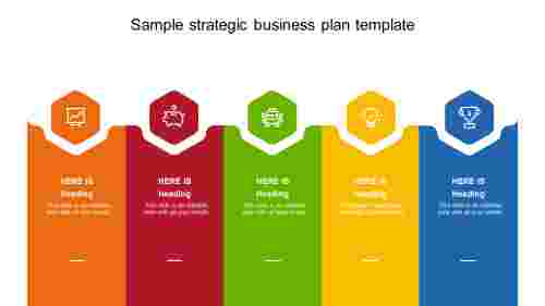 Sample strategic business plan template in PowerPoint
