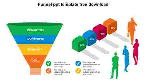 Simple funnel PPT template free download
