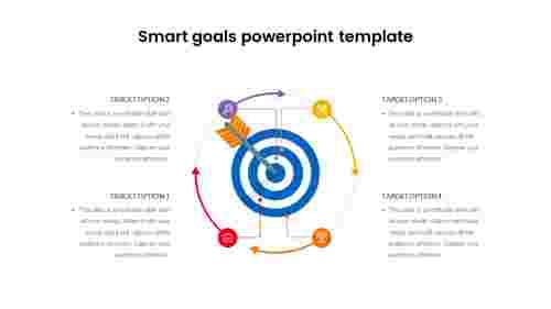 Smart goals PowerPoint template - Bullseye Diagram