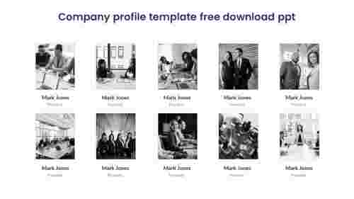 Simple Cmpany profile template free download PPT