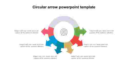 Best circular arrow PowerPoint template