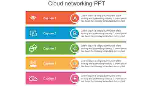 Cloudnetworkingpowerpoint-fivestages