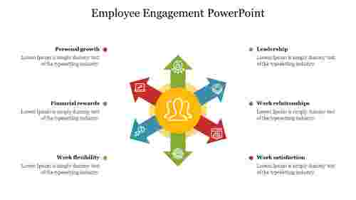 Employee%20Engagement%20PowerPoint%20With%20Arrow%20Design