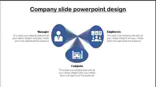 Company Profile Slide Template-cone shapes
