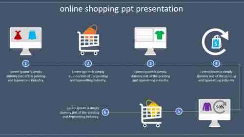 ProcessofonlineshoppingPPTpresentation