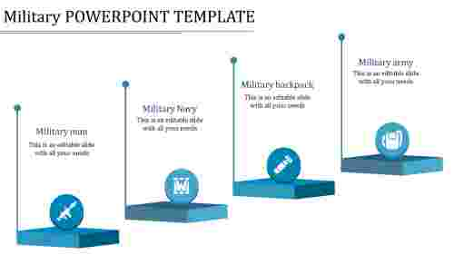 military powerpoint template-military powerpoint template-blue