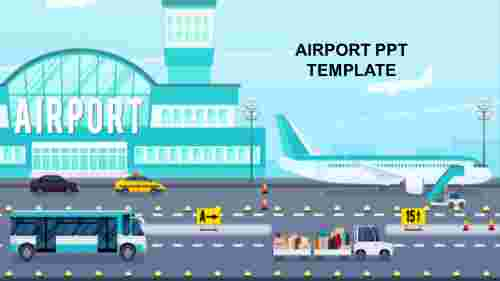 Creative airport PPT template