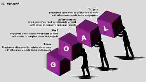 Team powerpoint with Cube Shapes