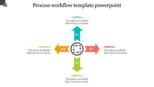 process workflow template powerpoint - Arrow shape