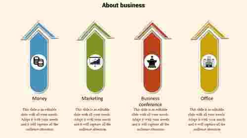 powerpoint business design-arrow model