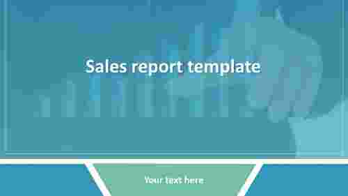 sales report template PowerPoint presentation