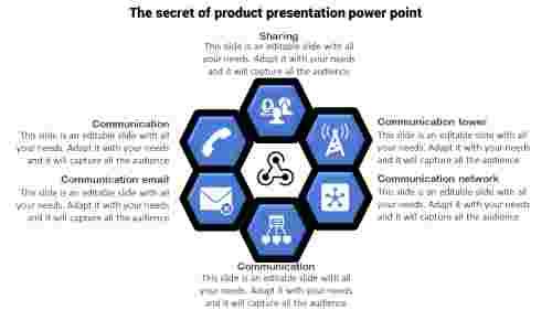 Communication PowerPoint Template - Hexagon Model