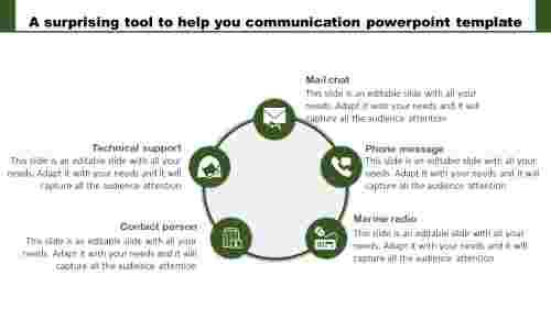 Circular Communication PowerPoint Template