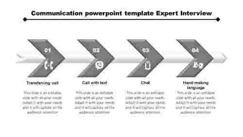 CommunicationPowerPointtemplate-ArrowModel