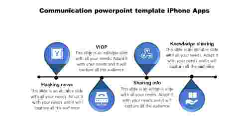 Apps communication powerpoint template