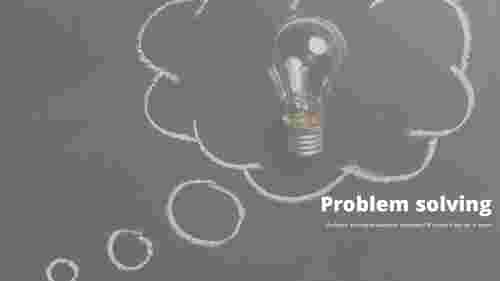 Drawing background problem solving powerpoint templates