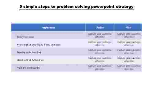 Problem-solving PowerPoint template-3 columns