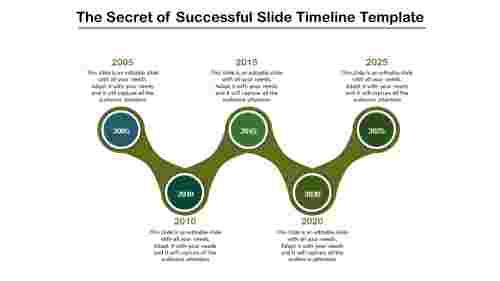 joined slide timeline template