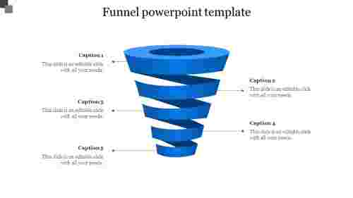Funnel PowerPoint template-Blue