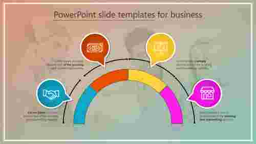 PowerPoint slide templates for business - Four plans