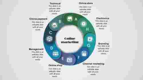 online marketing presentation- Circle design