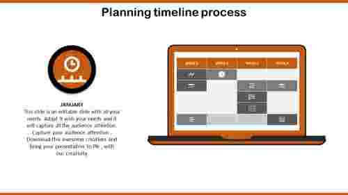 Calendar project plan timeline template