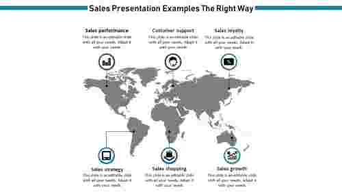 Sales Presentation Examples with map