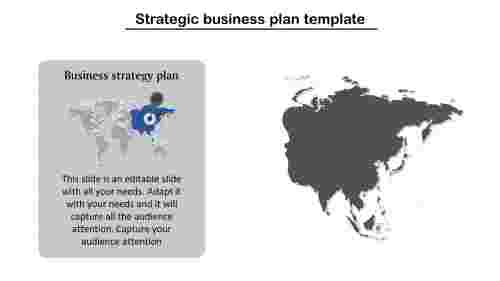 Strategic Business Plan Template With Asia Map
