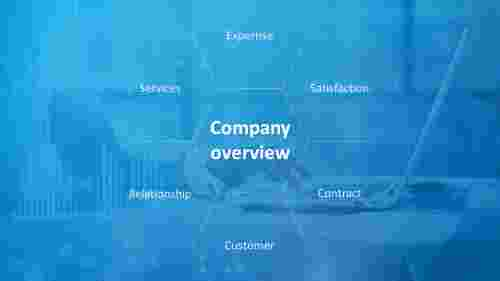 company overview presentation template hexagonal design