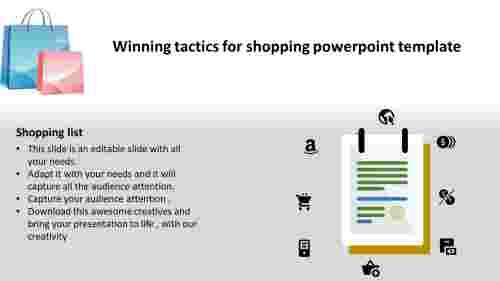 shopping powerpoint template-Winning tactics for shopping powerpoint template