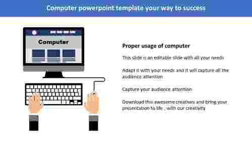 computer powerpoint template-Computer powerpoint template your way to success