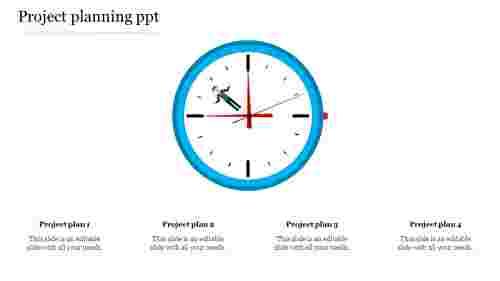 projectplanningPPTwithclockdesign