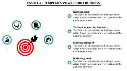 Templates powerpoint business - 4 Divisons
